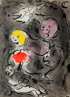 """Marc Chagall, """"The Prophet Daniel With The Lions"""", Original Lithograph"""