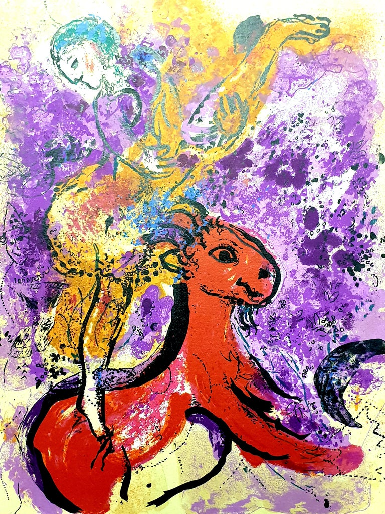 Marc Chagall - The Red Rider - Original Lithograph - Print by Marc Chagall