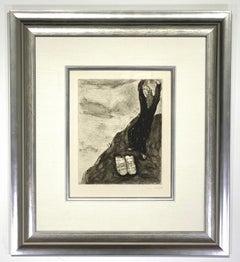 """Marc Chagall  """"Moise brise les tables de la loi Sorlier 237"""""""