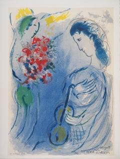 Music Angel - Stone lithograph - Catalog Raisonne : Mourlot #CS11