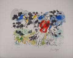 The Clown and the Flute I - Original lithograph, Hand Signed (Mourlot #615)