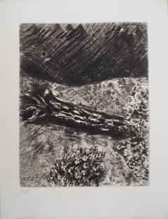 Oak and Reed - Original Etching - Ref. Sorlier #105