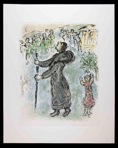 Odysseus disguised as a beggar - Original Lithograph by Marc Chagall - 1989