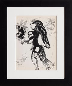Offering, Framed Lithograph by Marc Chagall 1960