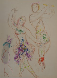 Opera Garnier : The Ballet - Original lithograph, Mourlot 1969