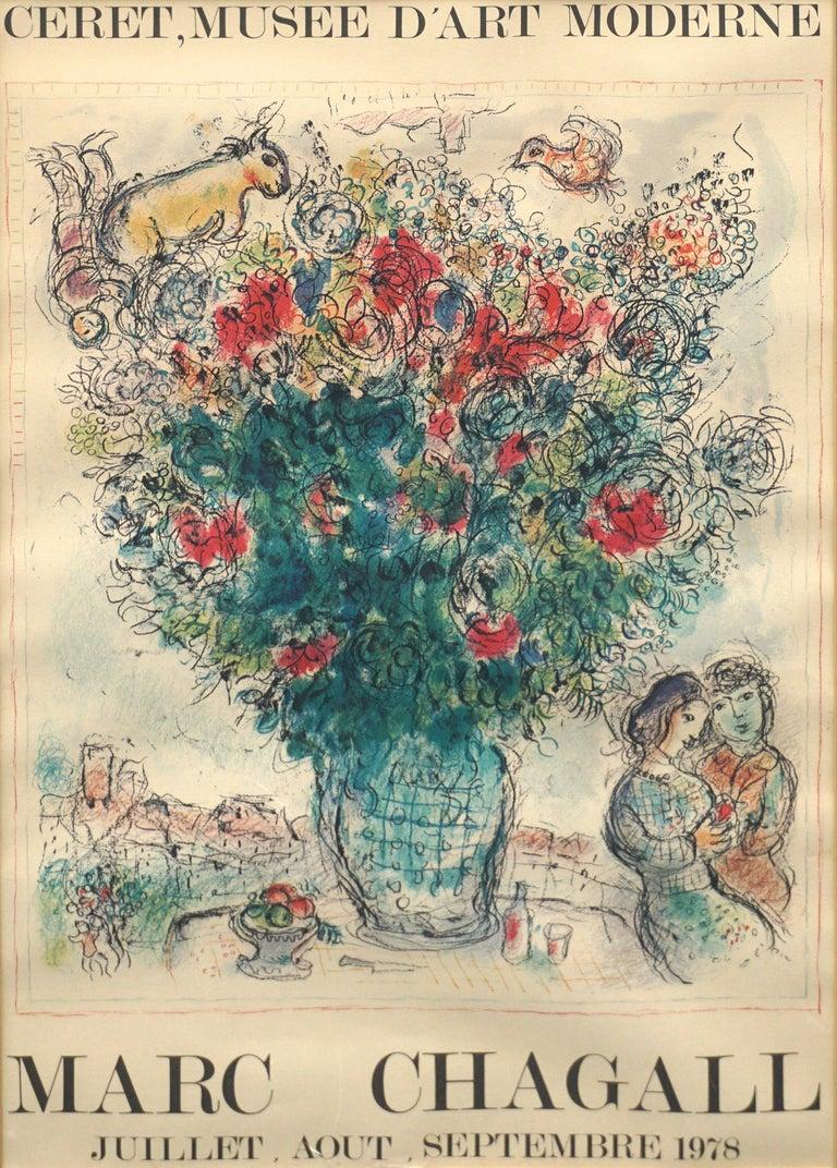 Original Marc Chagall 1978 Céret Musée d'Art Moderne Exhibit Poster For Sale 1