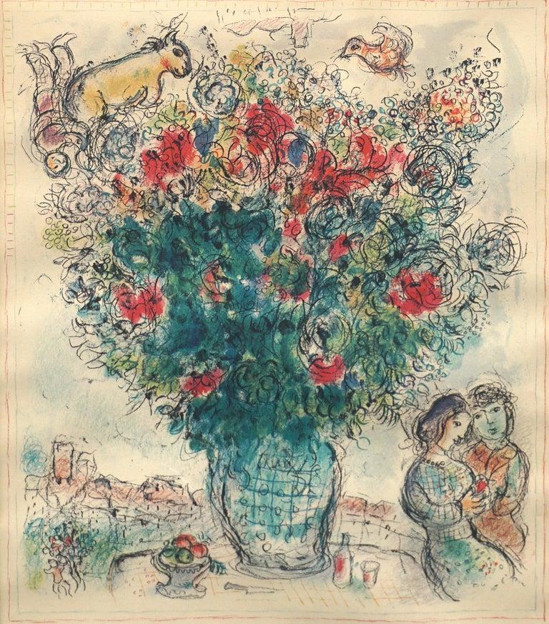 Original Marc Chagall 1978 Céret Musée d'Art Moderne Exhibit Poster For Sale 2