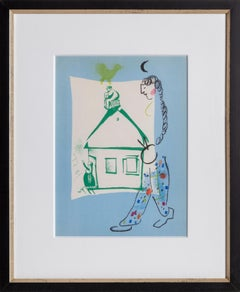 Our House in My Village, Framed Lithograph by Marc Chagall 1960