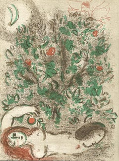 """Paradis (Paradise), M 232/255,"" an Original Color Lithograph by Marc Chagall"