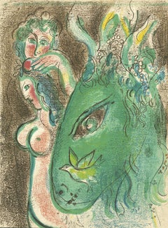"""Paradis (Paradise), M 233/256,"" an Original Color Lithograph by Marc Chagall"