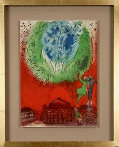 'Paris Fantastique'. Original colour lithograph.