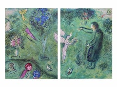 Philetas Orchard, Daphnis & Chloe Diptych 1977 Limited Edition, Marc Chagall