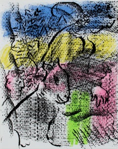 """""""Pour XXe Siecle no. 34,"""" original lithograph by Marc Chagall"""