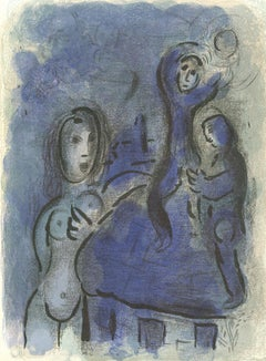 """Rahab et les Espions de Jéricho (Rahab and the Spies of Jericho)"" by Chagall"