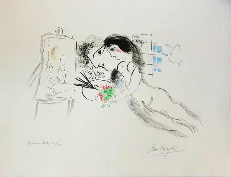 Rêve Familier - Print by Marc Chagall