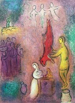 Sacrifices Made to the Nymphs, Daphnis & Chloe 1977 Limited Edition Marc Chagall