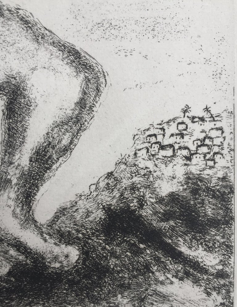 Samson Carrying The Gates of Gaza - Surrealist Print by Marc Chagall