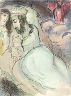 """""""Sara et Abimelech (Sarah and Abimelech), M 239/262"""" Original Color Lithograph"""