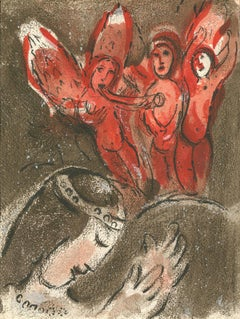 """Sara et les Anges (Sarah and the Angels),"" Original Color Lithograph by Chagall"