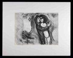 Sichem enlève Dinas - Original Héliogravure by Marc Chagall - 1960s