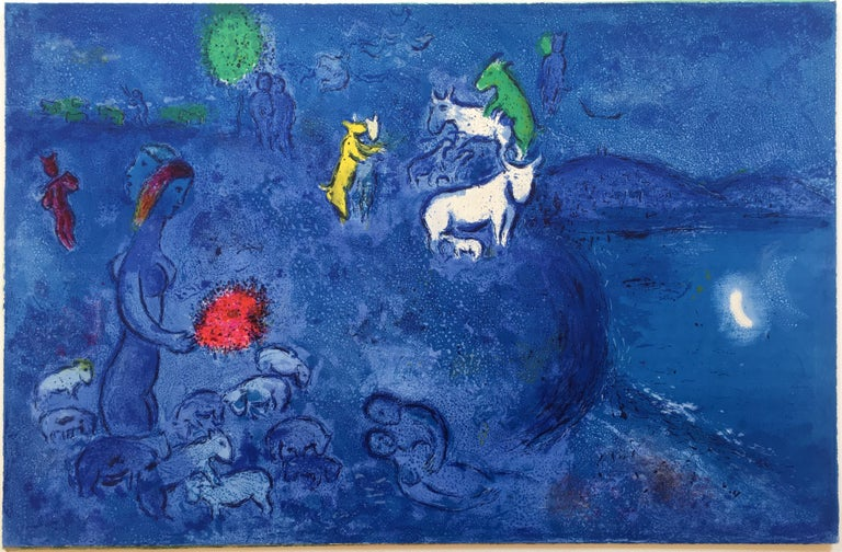 Marc Chagall Landscape Print - Spring, from Daphnis and Chloe