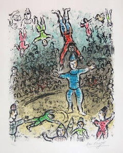 The Acrobats, Hand-signed, Limited Edition lithograph