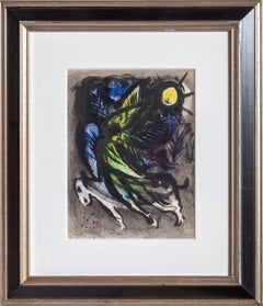 The Angel, Framed Lithograph by Marc Chagall 1960