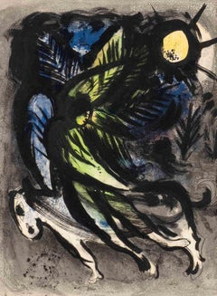 The Angel - Original Lithograph by Marc Chagall - 1982