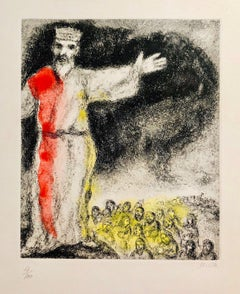 The BIble, Joshua Stops the Sun, Hand-colored Etching