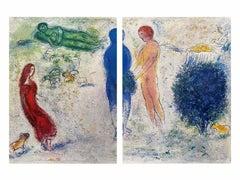 The Judgement of Chloe, Daphnis & Chloe Diptych 1977 Ltd Edition, Marc Chagall