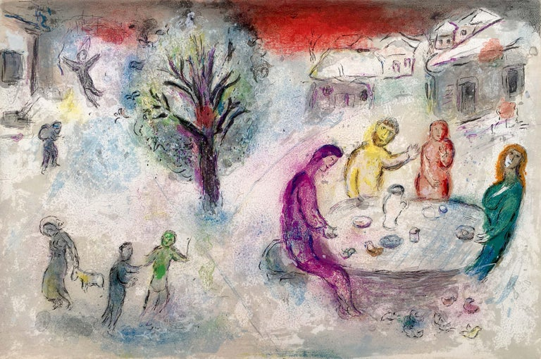 The Meal at Dryas's House, from Daphnis and Chloe - Print by Marc Chagall