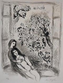 The Open Window  La Fenêtre ouverte - Israeli Art, Lithograph