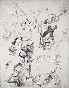 The Painters - Original Etching - Illustration of Nicolas Gogol, Les ames mortes