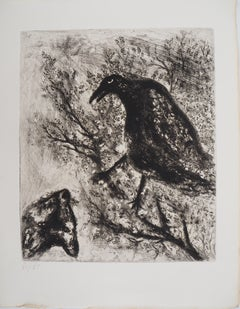 The Raven and the Fox - Original etching - Ref. Sorlier #195