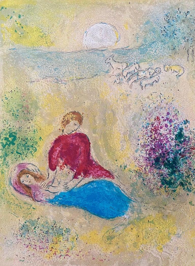 "Marc Chagall Figurative Print - ""The Swallow,"" Daphnis et Chloé"