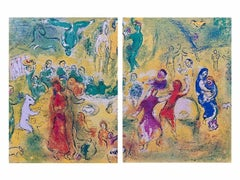 Wedding Feast in the Cave of the Nymphs, D & C Diptych 1977 Ltd Ed, Marc Chagall
