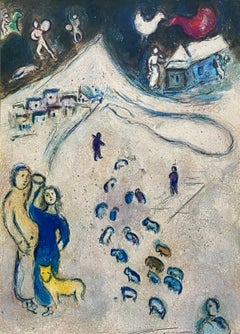 """Winter,"" Daphnis et Chloé 1977 Limited Edition, Marc Chagall"