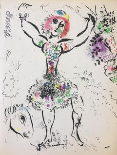 Woman Juggler, Color Lithograph Print