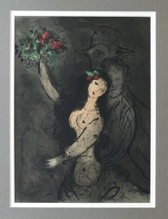 Woman With Flowers - Original Lithograph Signed in the Plate - Mourlot 383