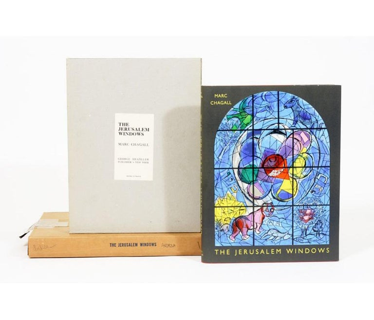 Modern Marc Chagall, the Jerusalem Windows, Signed First Edition, Very Fine Condition For Sale