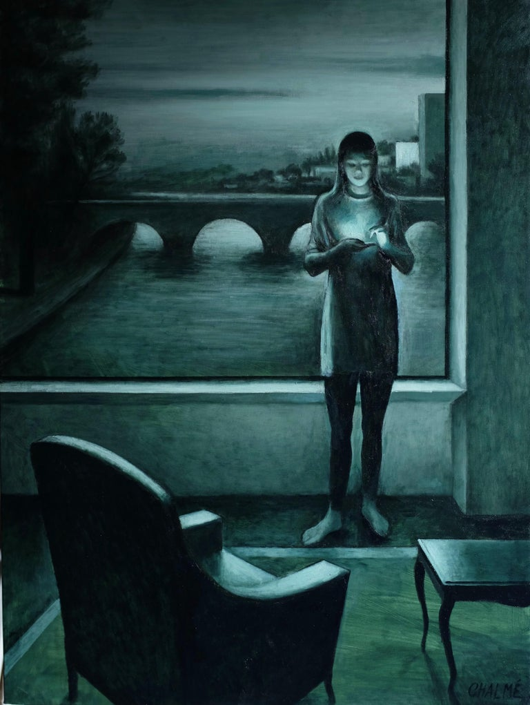 Marc Chalme Figurative Painting - Monochrome I