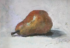 """""""Bartlett Pear"""" - Contemporary Realism - Still Life - Manet"""