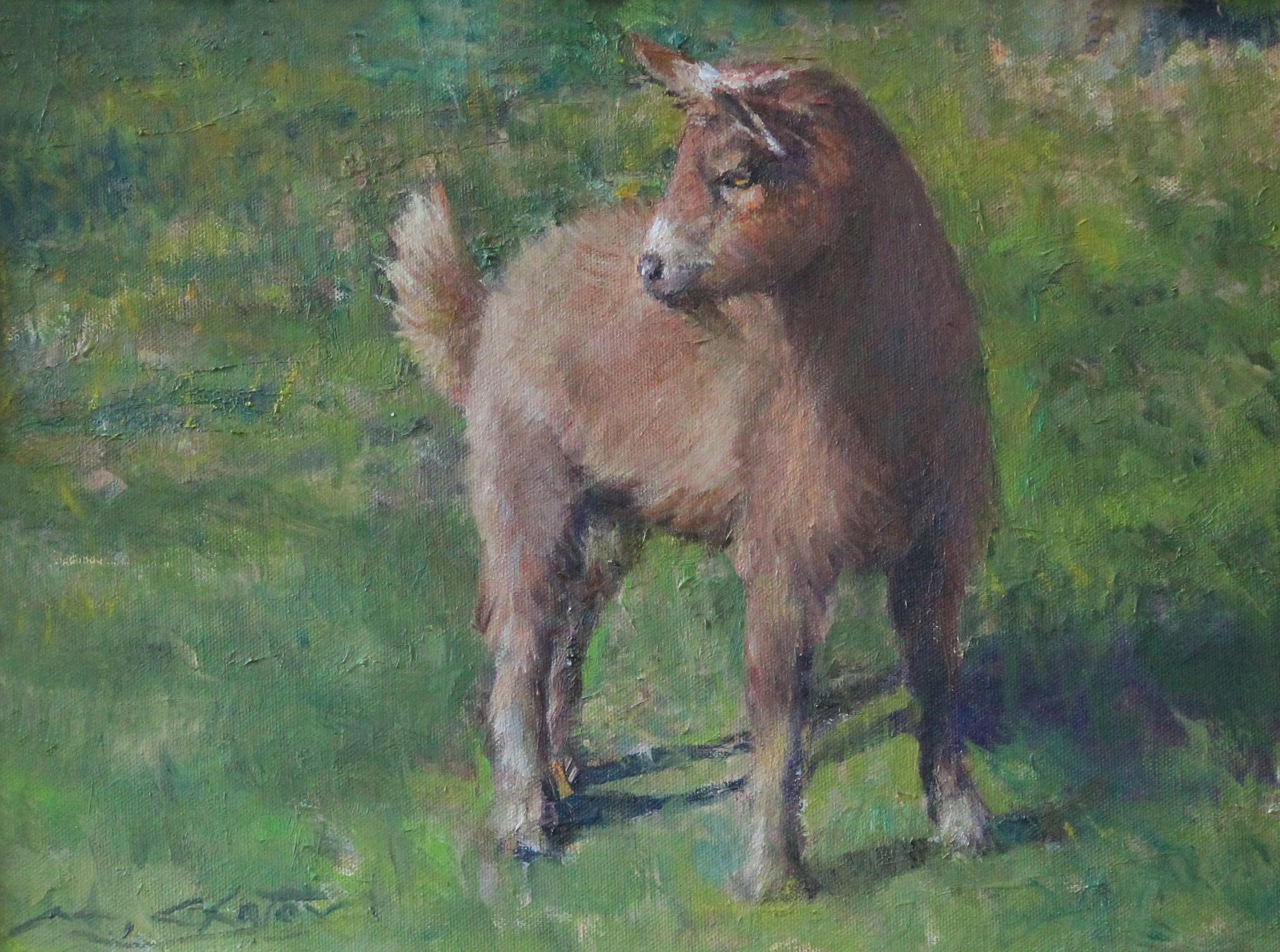 """""""Cocoa"""" - Contemporary Realism - Goat - Manet"""
