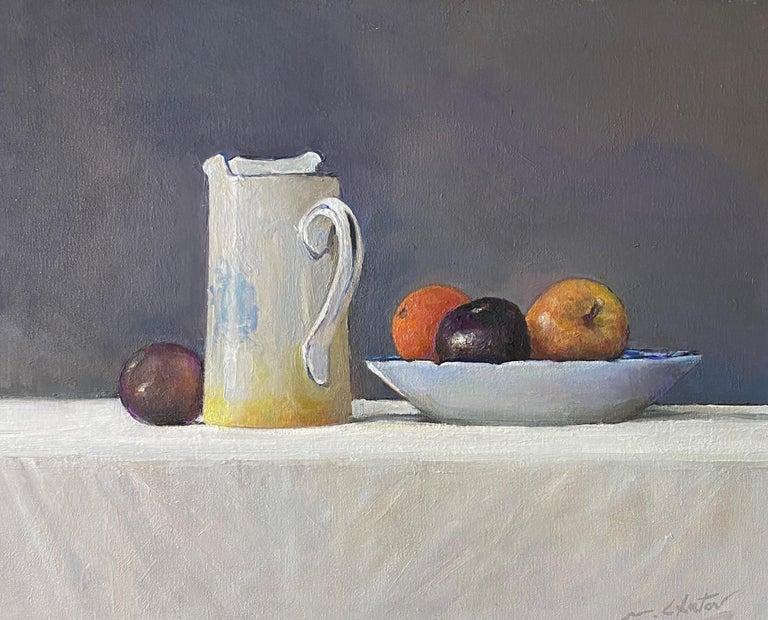 "Marc Chatov Still-Life Painting - ""Ensemble"" - Contemporary Realism - Still Life - Manet"