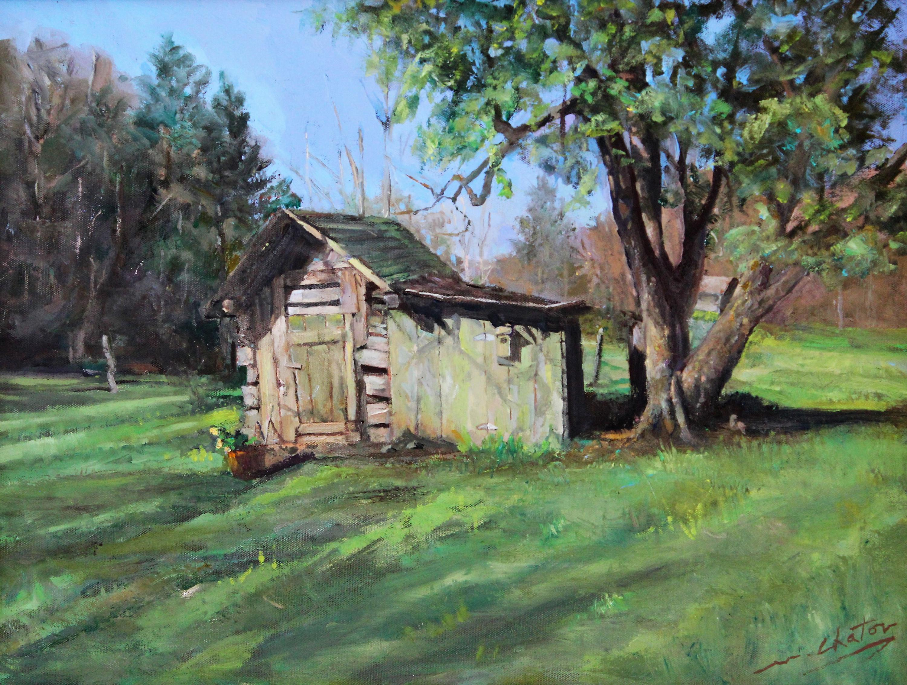 """""""Grandpa's Tool Shed"""" - Contemporary Realism - Landscape - Manet"""