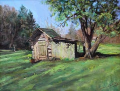 """Grandpa's Tool Shed"" - Contemporary Realism - Landscape - Manet"