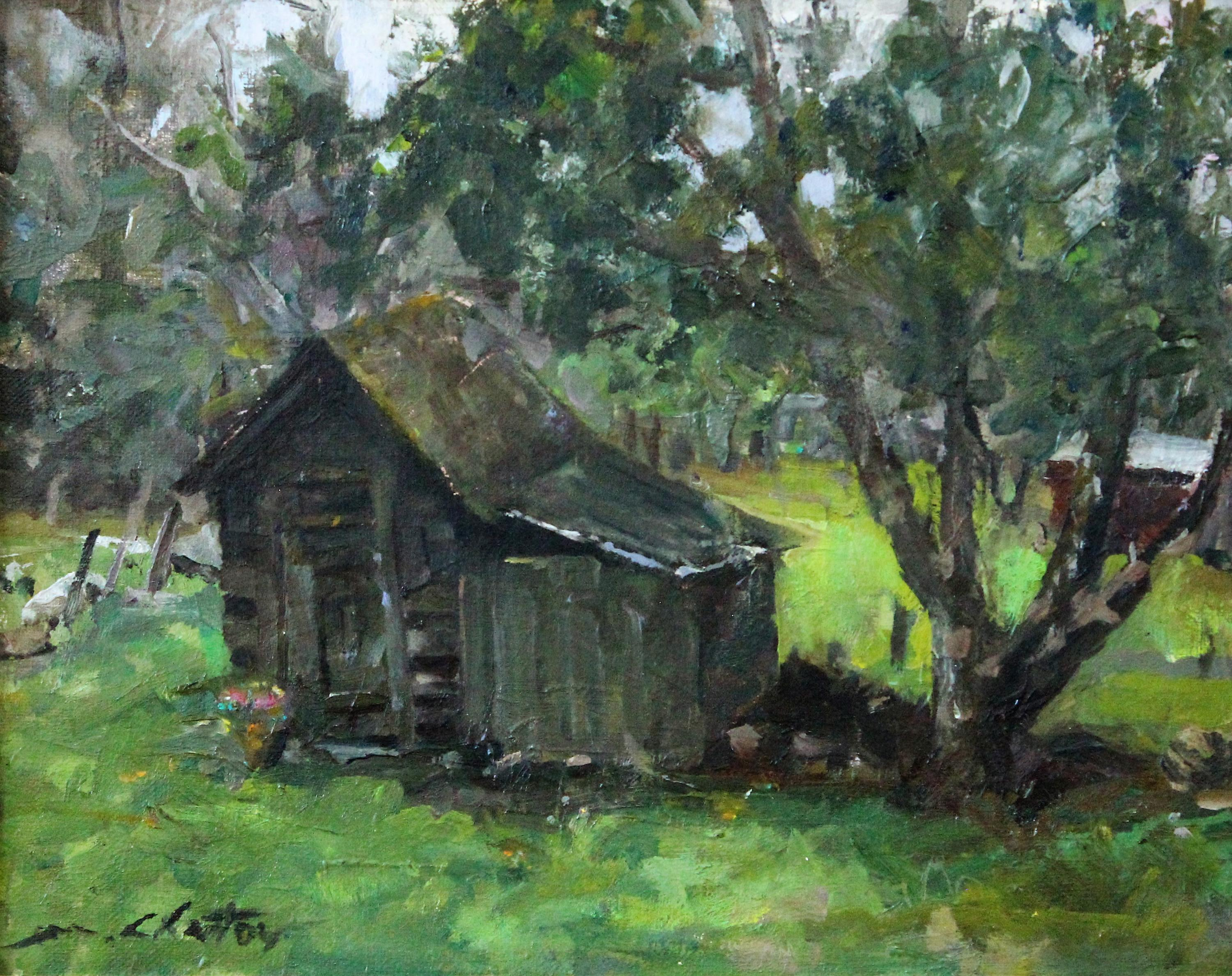 """""""Grandpa's Tool Shed Study"""" - Contemporary Realism - Landscape - Manet"""