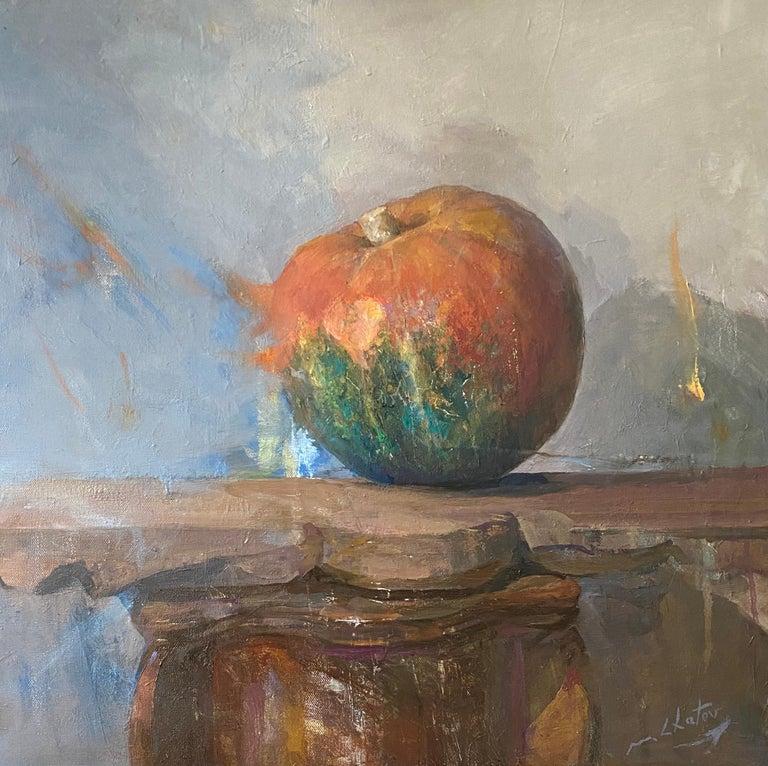 """Marc Chatov Still-Life Painting - """"Pumpkin Heart"""" - Contemporary Realism - Still Life - Manet"""