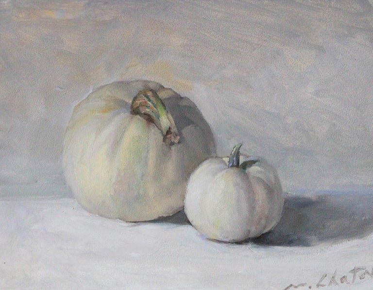 "Marc Chatov Still-Life Painting - ""White Pumpkins"" - Contemporary Realism - Still Life - Manet"