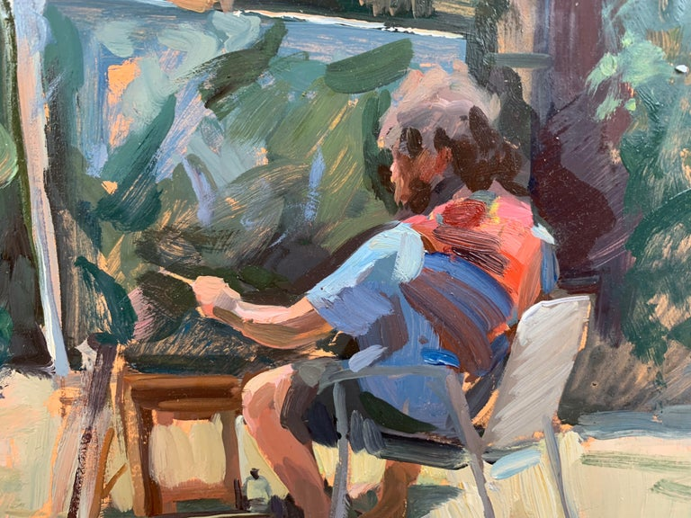 Painted en plein air, in Italy, Dalessio captures fellow artist, Ben Fenske, painting outdoors.   Marc Dalessio was born in 1972 in Los Angeles, California. Even in his earliest years, it was evident that his passion was art. In 1989 he started at
